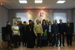 11 октября в Институе Теологии состоялось открытие выставки работ Татьяны и Андрея Косиковых.